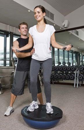 Balancing Strength-Training Exercises on BOSU or Balance Pad