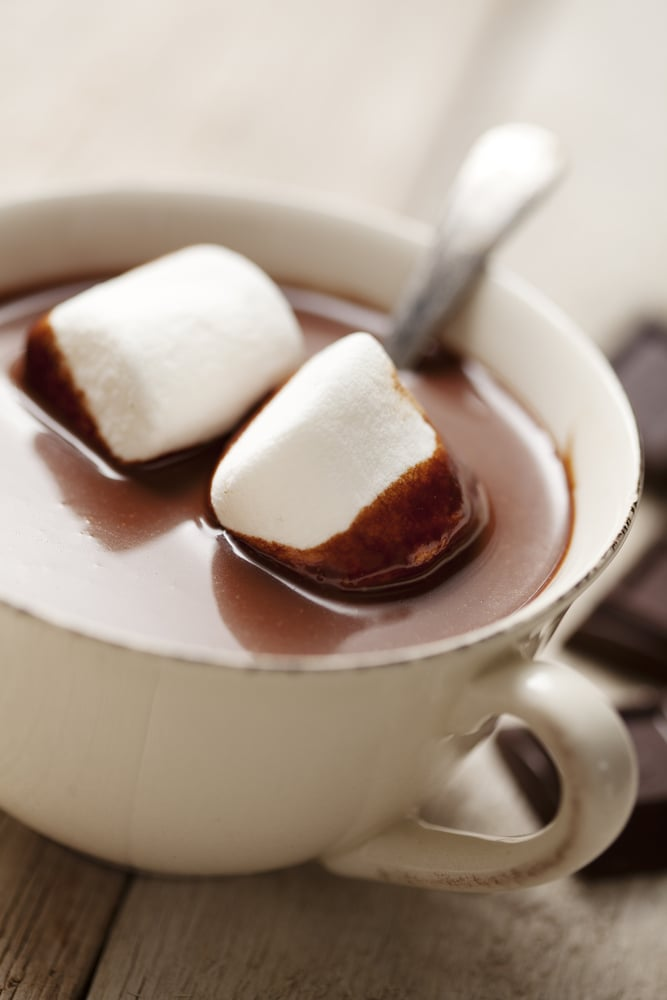 milk calories - Hot Chocolate With Skim Milk, Cocoa Powder and Maple ...