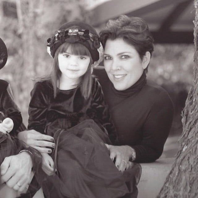 Kendall Jenner found a cute moment from her childhood with her mom, Kris.  Source: Instagram user kendalljenner