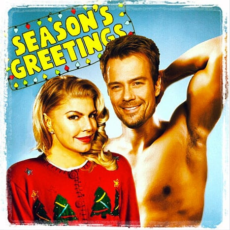 Fergie shared her silly Christmas card. Source: Instagram user Fergie