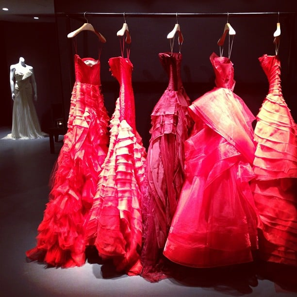 Wedding dresses! Red! Vera Wang's collection is quite unlike any other we've seen. So amazing.