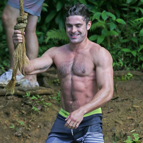 Shirtless Zac Efron on a Rope Swing