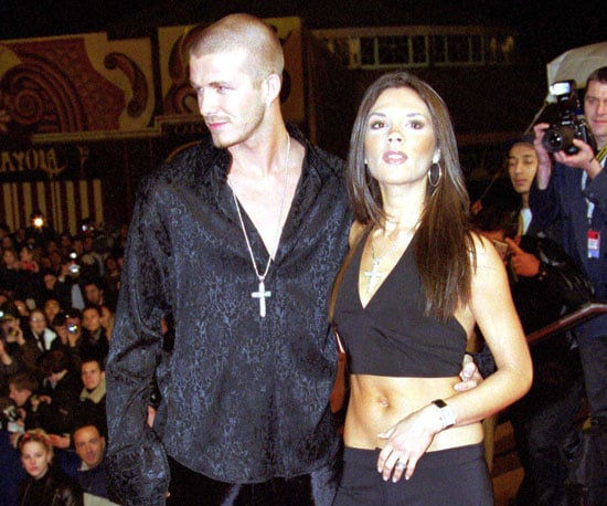 In January 2001, Victoria bared her belly with David by her side at the NRJ Music Awards in Cannes.