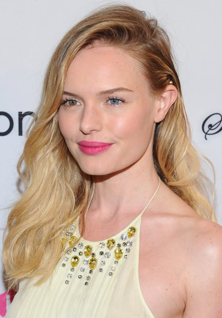 Kate Bosworth gave a smile with bright pink lips at the premiere of Life Happens in Century City.