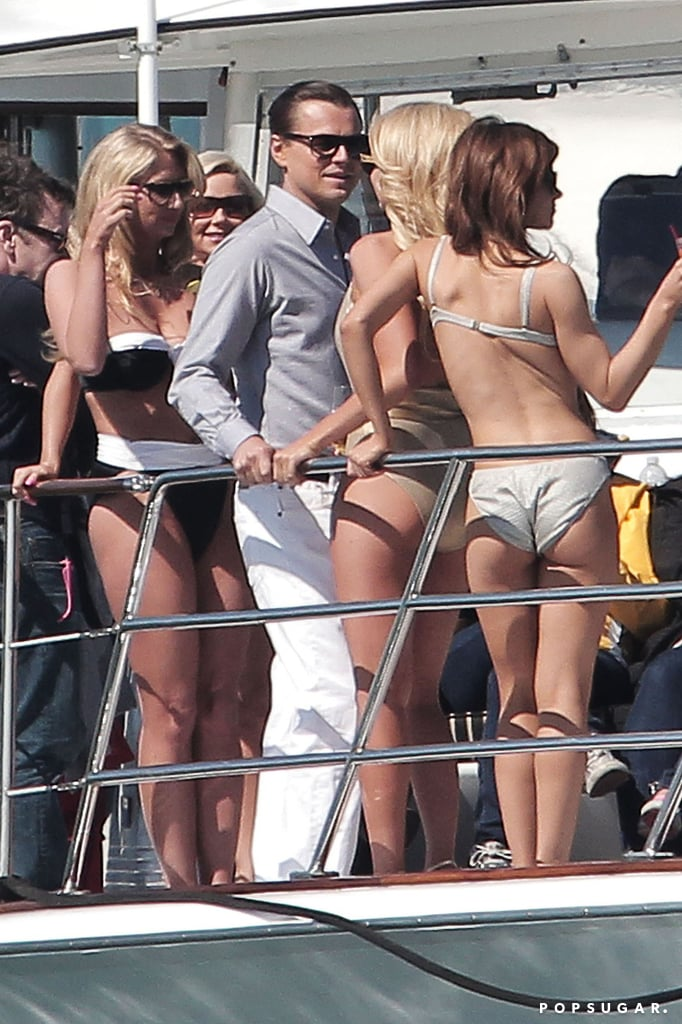 All in a Day's Work —Leo Kisses and Parties With Bikini-Clad Girls on a Yacht