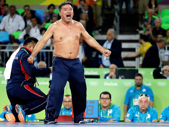 Mongolian Wrestling Coaches Rip Off Clothes in Protest After Losing Bronze Medal Match in Rio