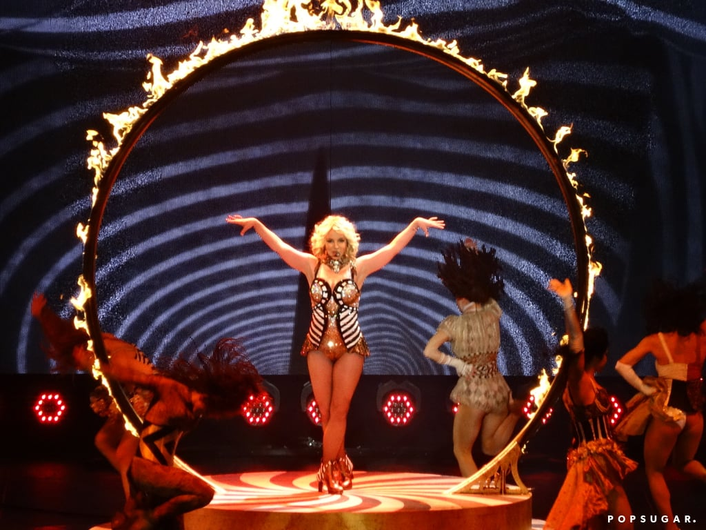 Britney Spears kicked off her two-year Las Vegas residency with a fiery performance at Planet Hollywood on Friday night.