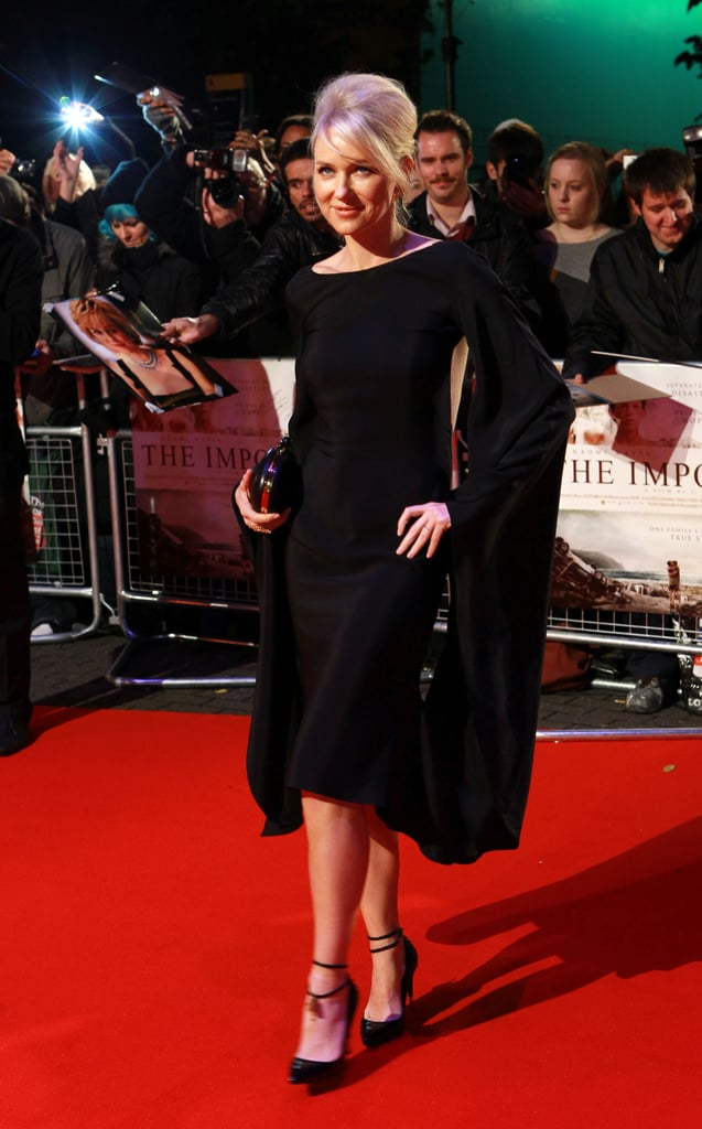 Naomi Watts hit the red carpet to premiere her movie The Impossible.