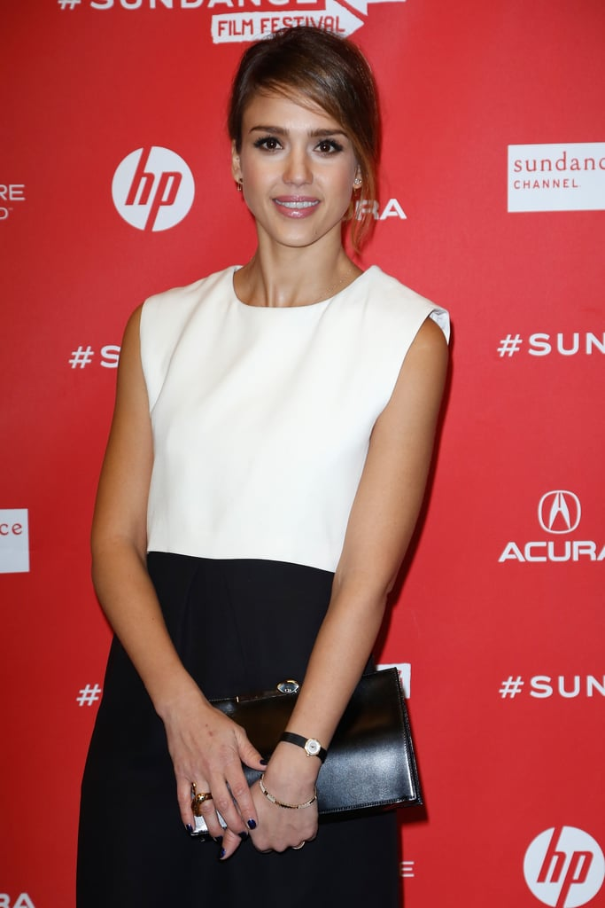 A fabulous piece of jewelry that Jessica Alba recently wore at Sundance is this Iwona Ludyga tribal bracelet ($175). It lent a casual flair to her otherwise dressy look.