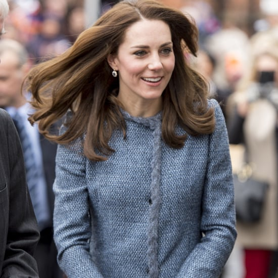 Kate Middleton Blue Tweed Missoni Coat March 2016