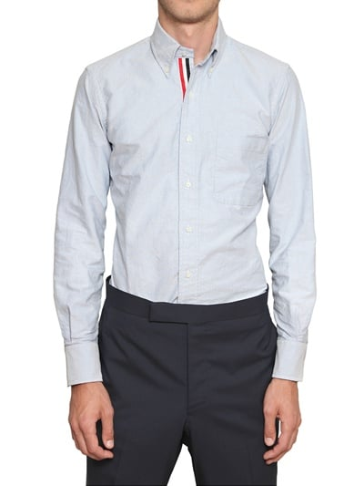 I am a huge fan of clothing with hidden surprises. My favorite part of this Thom Browne oxford cotton shirt ($392) has to be the red, white, and blue grosgrain trim running on the inside placket of the shirt. — Robert Khederian, Style & Trends editorial assistant