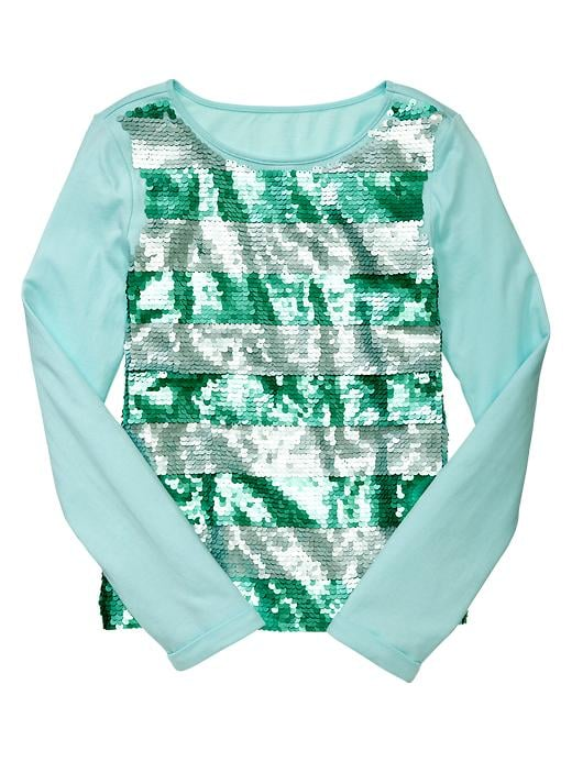 Gap Kids' Striped, Sequined Top