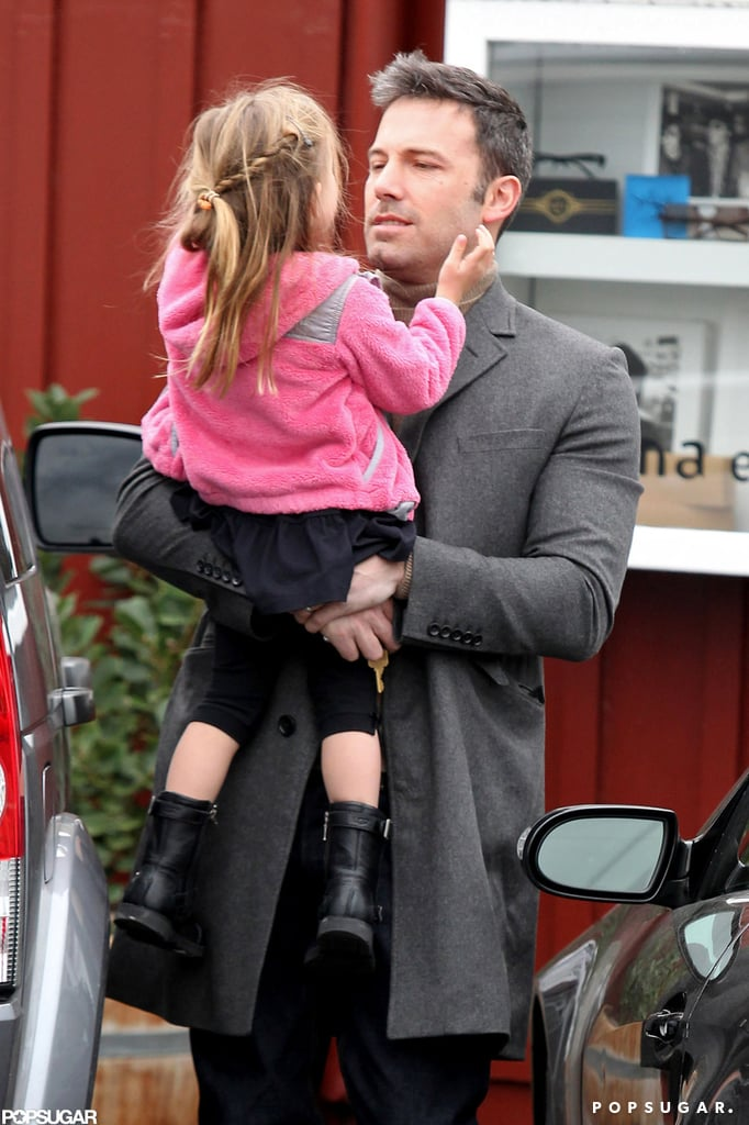 Ben Affleck carried Seraphina Affleck to their car after the pair visited Brentwood County Mart in LA in November 2012.