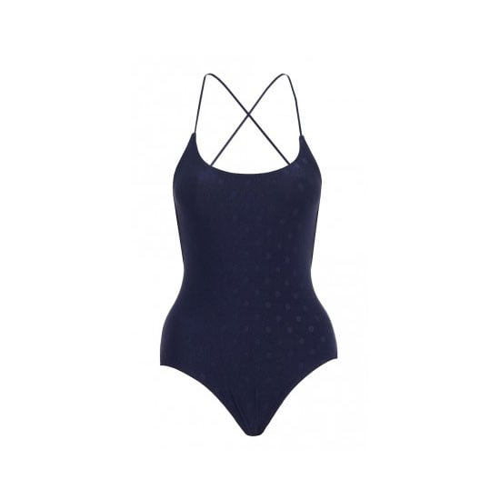 I've got a bazillion (at least) pretty printed Zimmo bikinis. It could be time to venture into the sophisticated, grown-up world of the one piece. This navy number has the sexiest cross-over back to boot! — Ali, FabSugar editor One piece, $285, Zimmermann