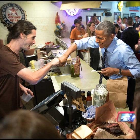 Barack Obama Fist-Bumps Gay Food Worker