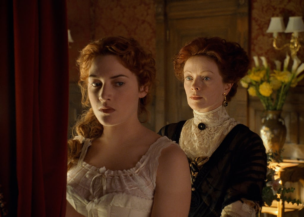 Frances Fisher and Kate Winslet in Titanic.