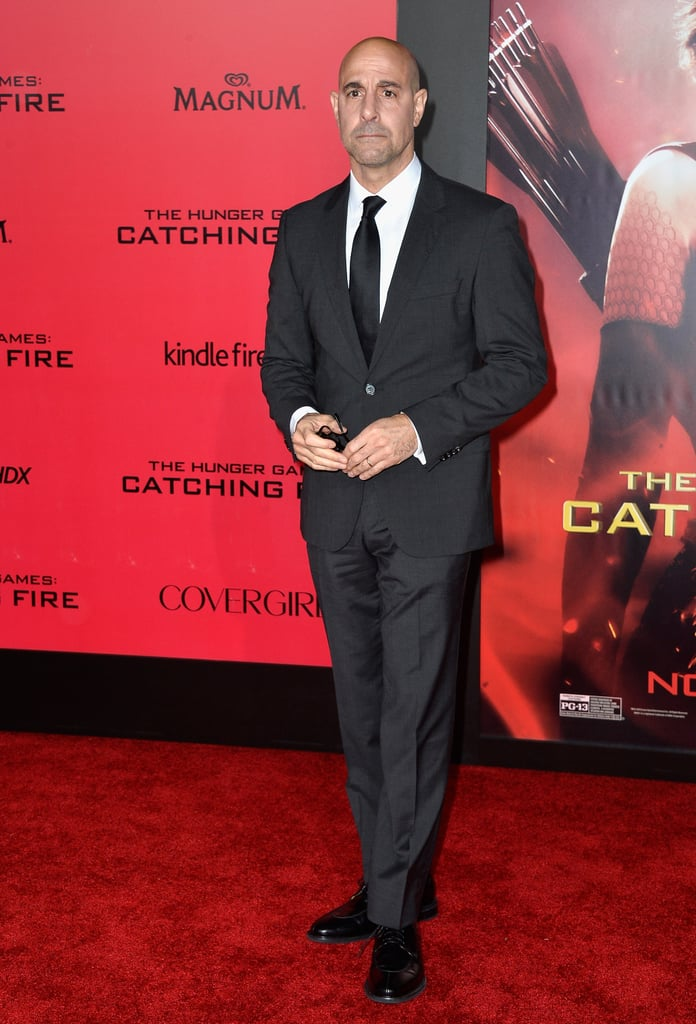 Stanley Tucci suited up for the premiere.