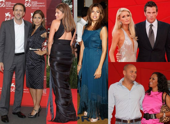 Photos of Eva Mendes, Nicolas Cage, Paris Hilton, Melanie Brown at Bad Lieutenant Premiere at 2009 Venice Film Festival