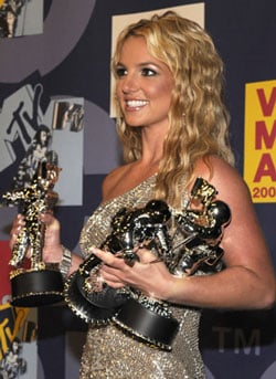 Sugar Bits — Britney Wins Three MTV Video Music Awards!