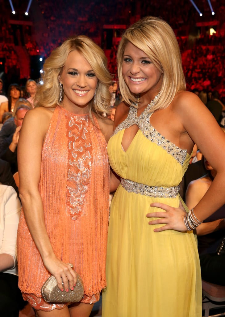 Carrie Underwood posed with Lauren Alaina.