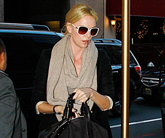 Slide Picture of Charlize Theron Leaving the Broadway Play Memphis in NYC