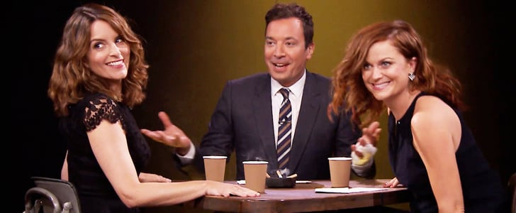 Tina, Amy, and Jimmy Can't Keep a Straight Face While Trying to Fool Each Other