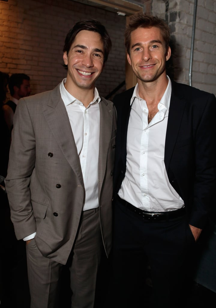 Justin Long chatted up Scott Speedman at the party.