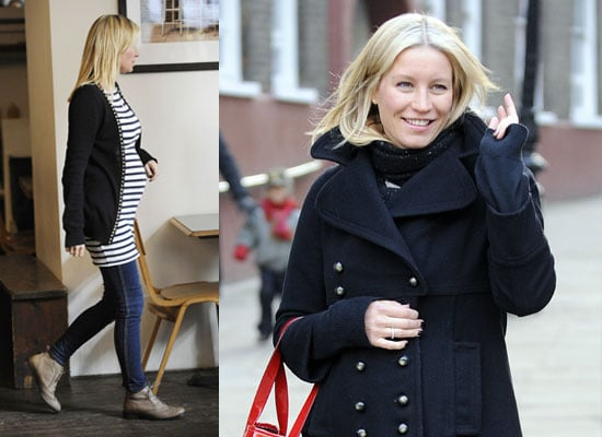 Photos of Denise Van Outen's Baby Bump Expecting a Girl Codenamed Teapot With Husband Lee Mead