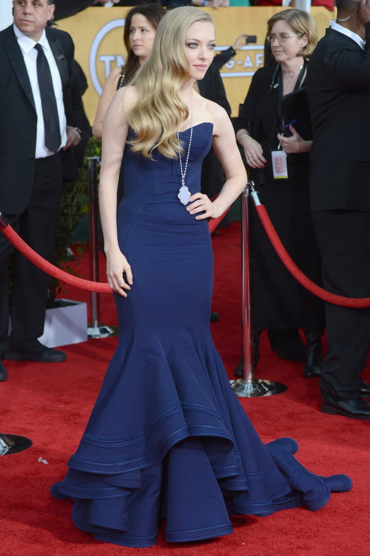 Goes with a dramatic gown at the sag awards popsugar celebrity