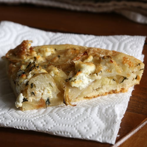 Focaccia With Slivered Artichokes and Goat Cheese