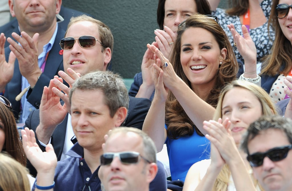 The duke and duchess applauded Great Britain's Andy Murray during the match.