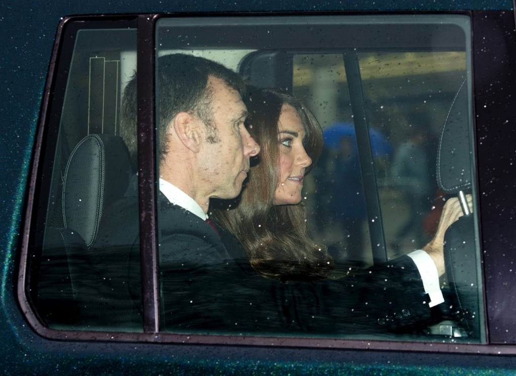 Kate Middleton arrived at a Christmas lunch at Buckingham Palace.