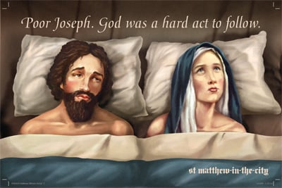 Billboard Shows Joseph and Mary in Bed — Love It or Leave It?