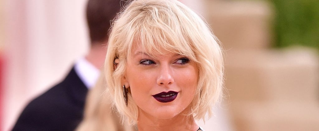 Taylor Swift Shows Up to the Met Gala Looking Like One Seriously Fierce Candy Bar
