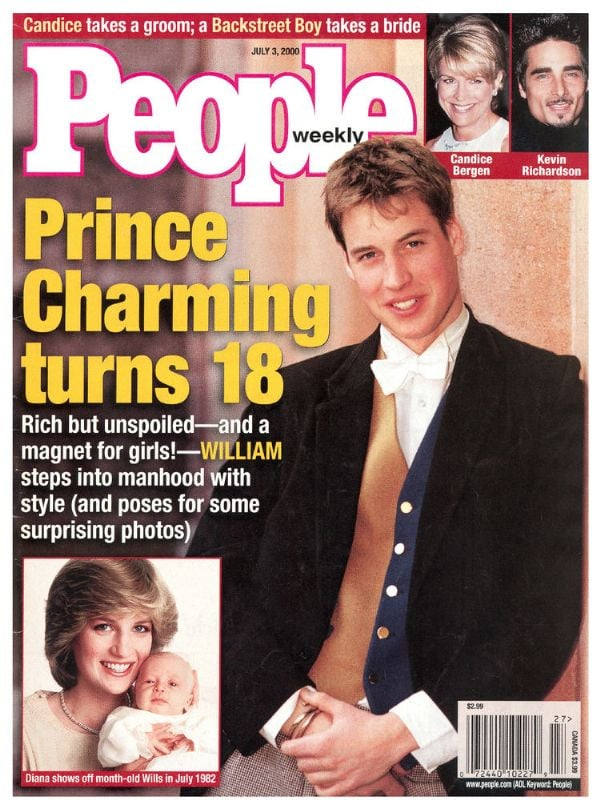 """The prince's 18th birthday was also a big occasion, and he was declared """"rich but unspoiled."""""""