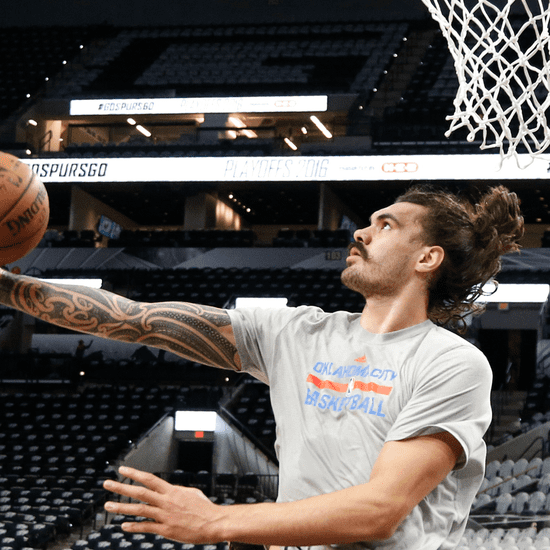Steven Adams Looks Like Jason Momoa