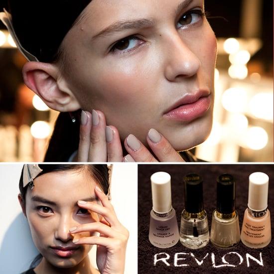 Revlon Greige Nails at Daks Spring 2013 London Fashion Week