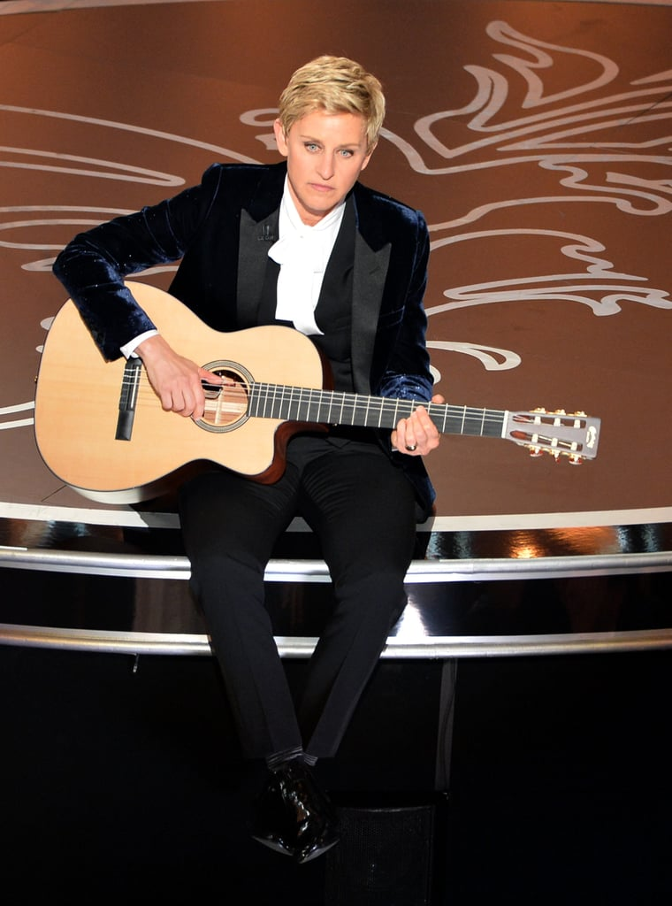 Ellen DeGeneres played a guitar during the show.