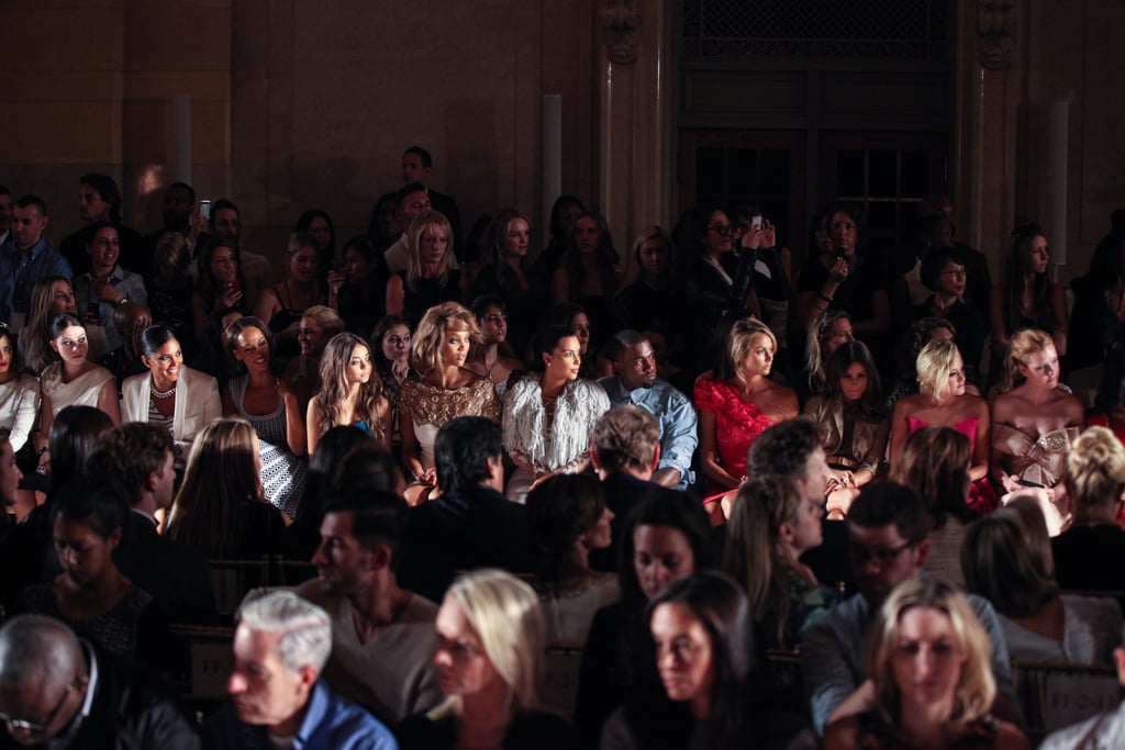 Tyra Banks, Sarah Hyland, and Michelle Trachtenberg watched the collection come down the runway.