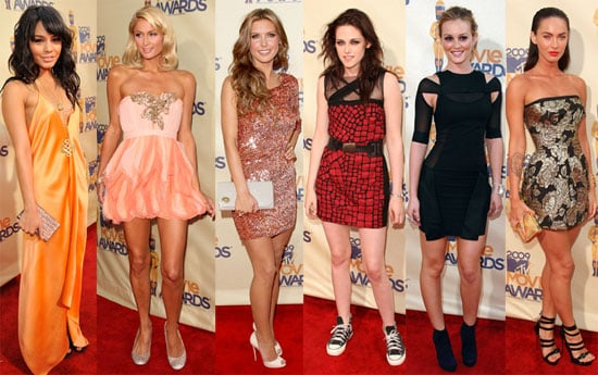 Photos of Paris Hilton, Leighton Meester, Kristen Stewart, Sienna Miller, Megan Fox at the 2009 MTV Movie Awards