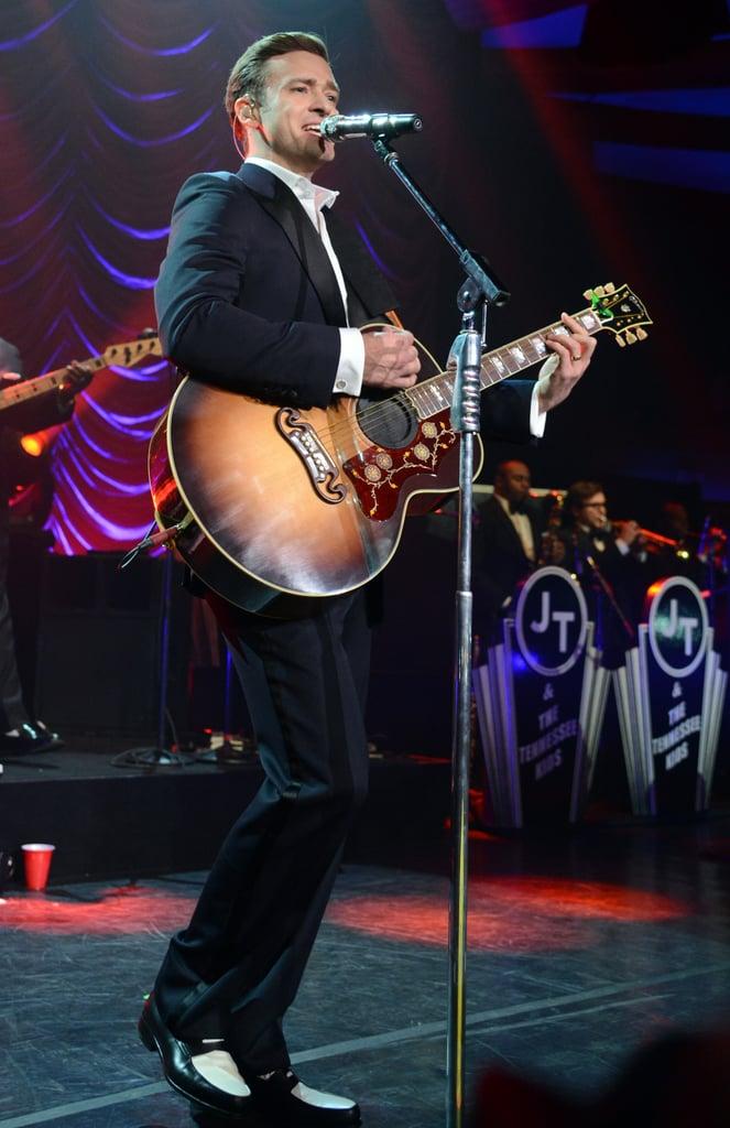 Justin Timberlake played the guitar.