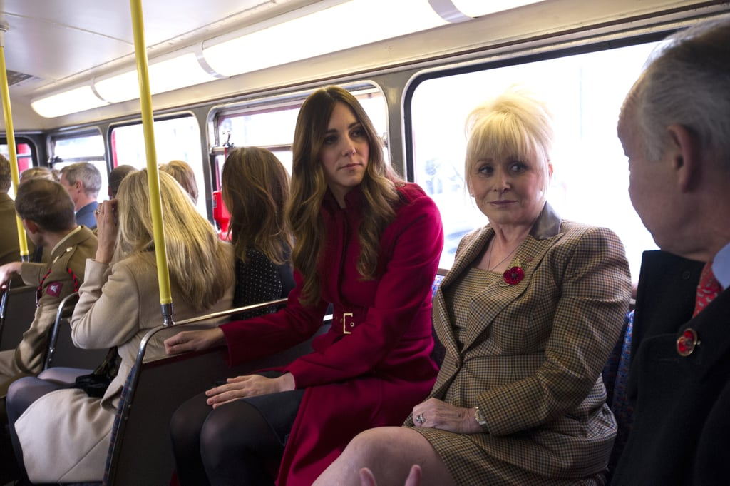 Kate Middleton chatted with her fellow bus riders.
