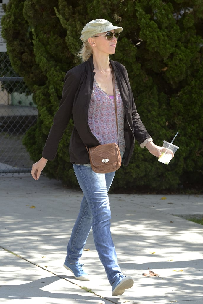 Naomi Watts strolled through the farmers market in Brentwood.