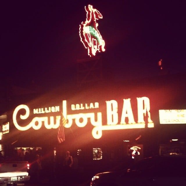 Whitney shared a picture of the bar on Thursday.