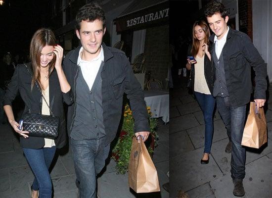 Photos of Orlando Bloom and Miranda Kerr in London