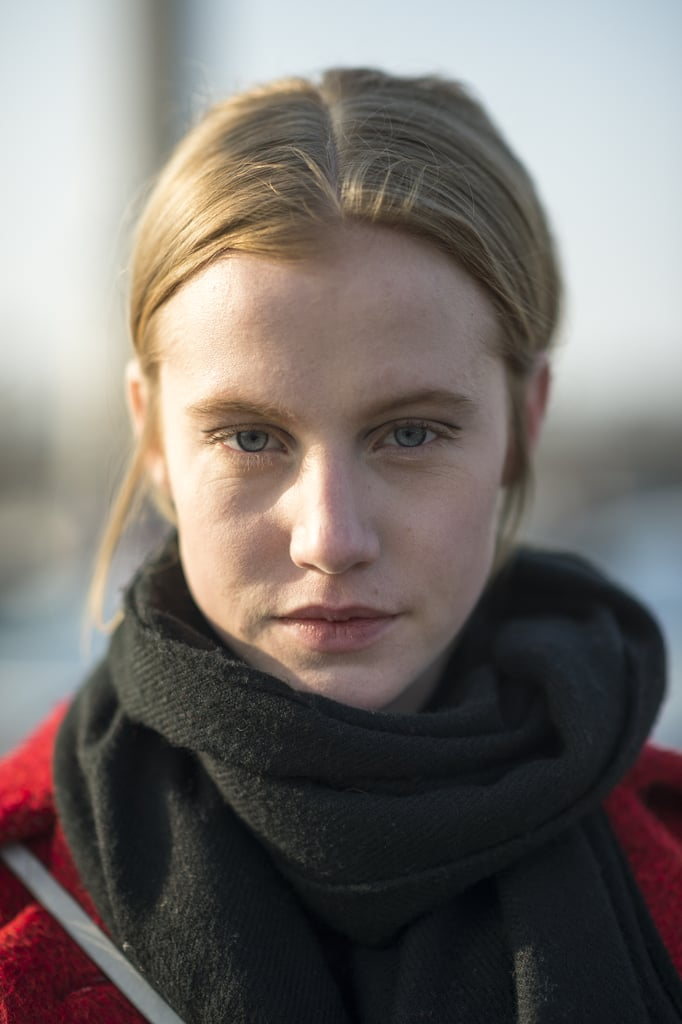 A center-parted ponytail and lots of mascara completed Lauren Bigelow's effortless look. Source: Le 21ème | Adam Katz Sinding