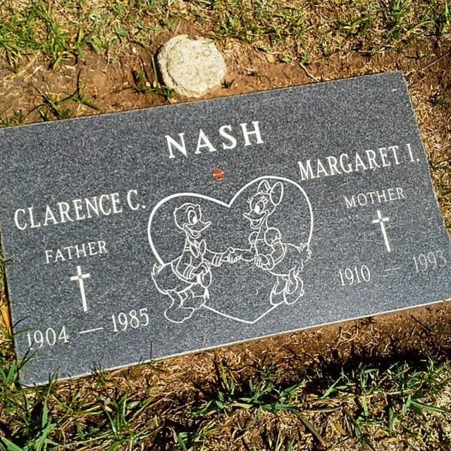 The Voice Actor For Donald Duck Shares a Grave With His Wife, and It Has a Photo of Donald and Daisy Duck Holding Hands