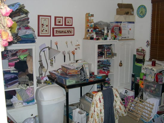 Before and After:  Taming a Messy Craft Room
