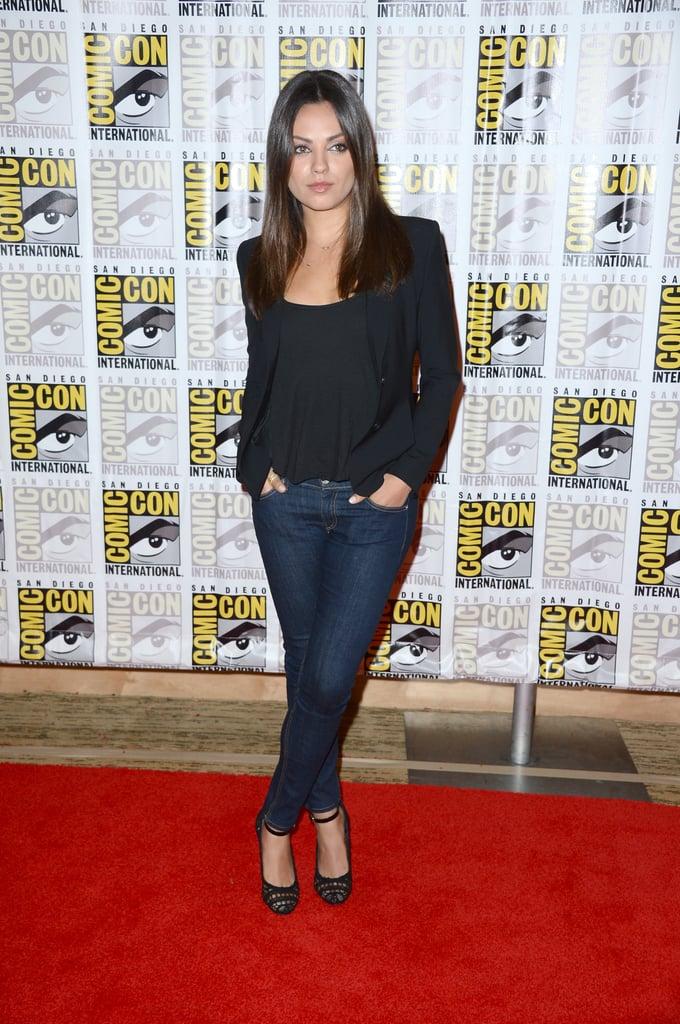 Mila Kunis wore jeans to Comic-Con.