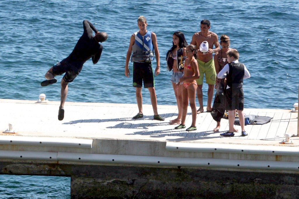 Madonna hangs out in Antibes.